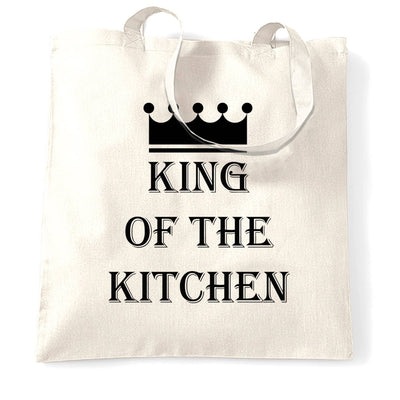 Chef's Cooking Tote Bag King Of The Kitchen Slogan