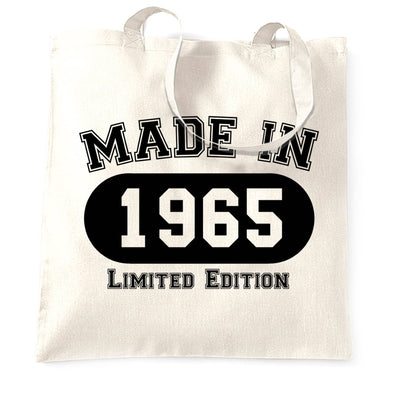 Birthday Tote Bag Made in 1965 Limited Edition