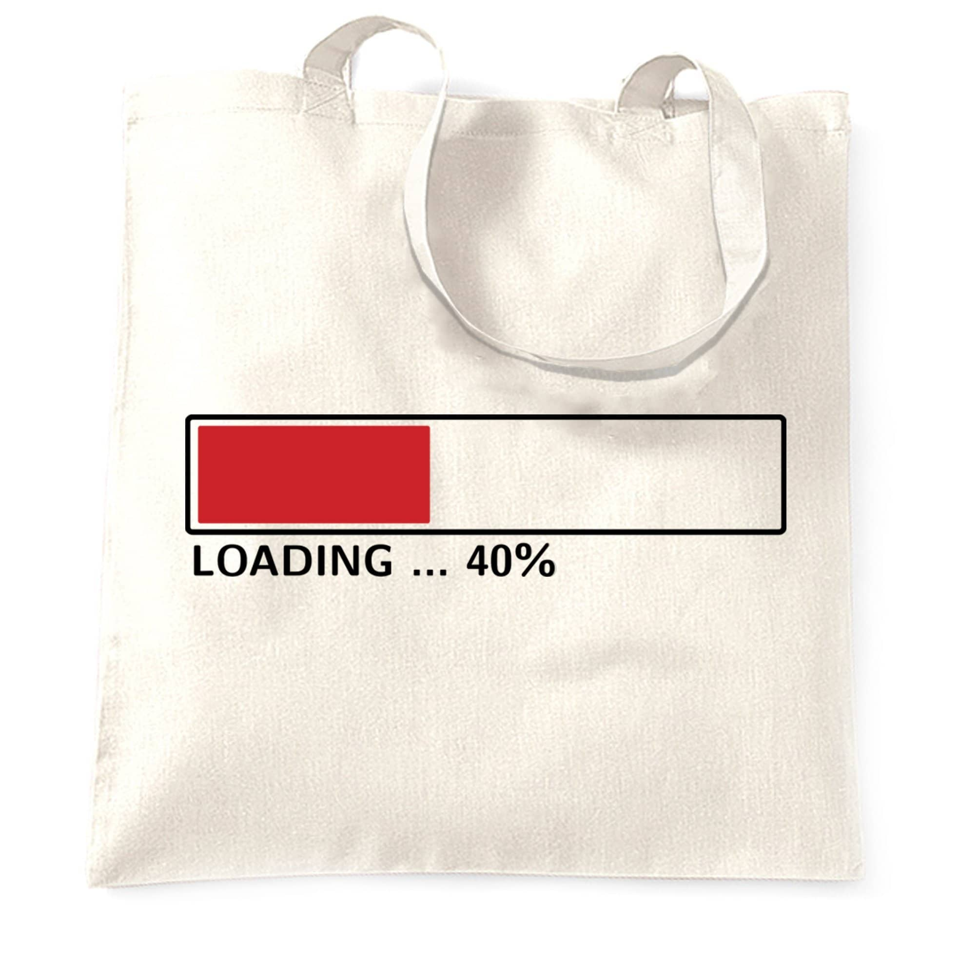 40th Birthday Tote Bag Loading 40% Complete Forty