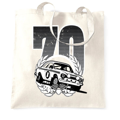 Racing Tote Bag Classic Rally Car Retro 70