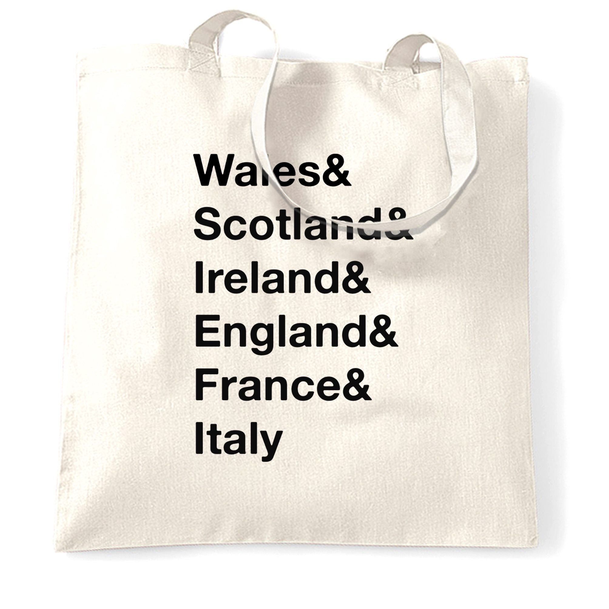 The Six Nations Tote Bag Wales, Scotland, Ireland