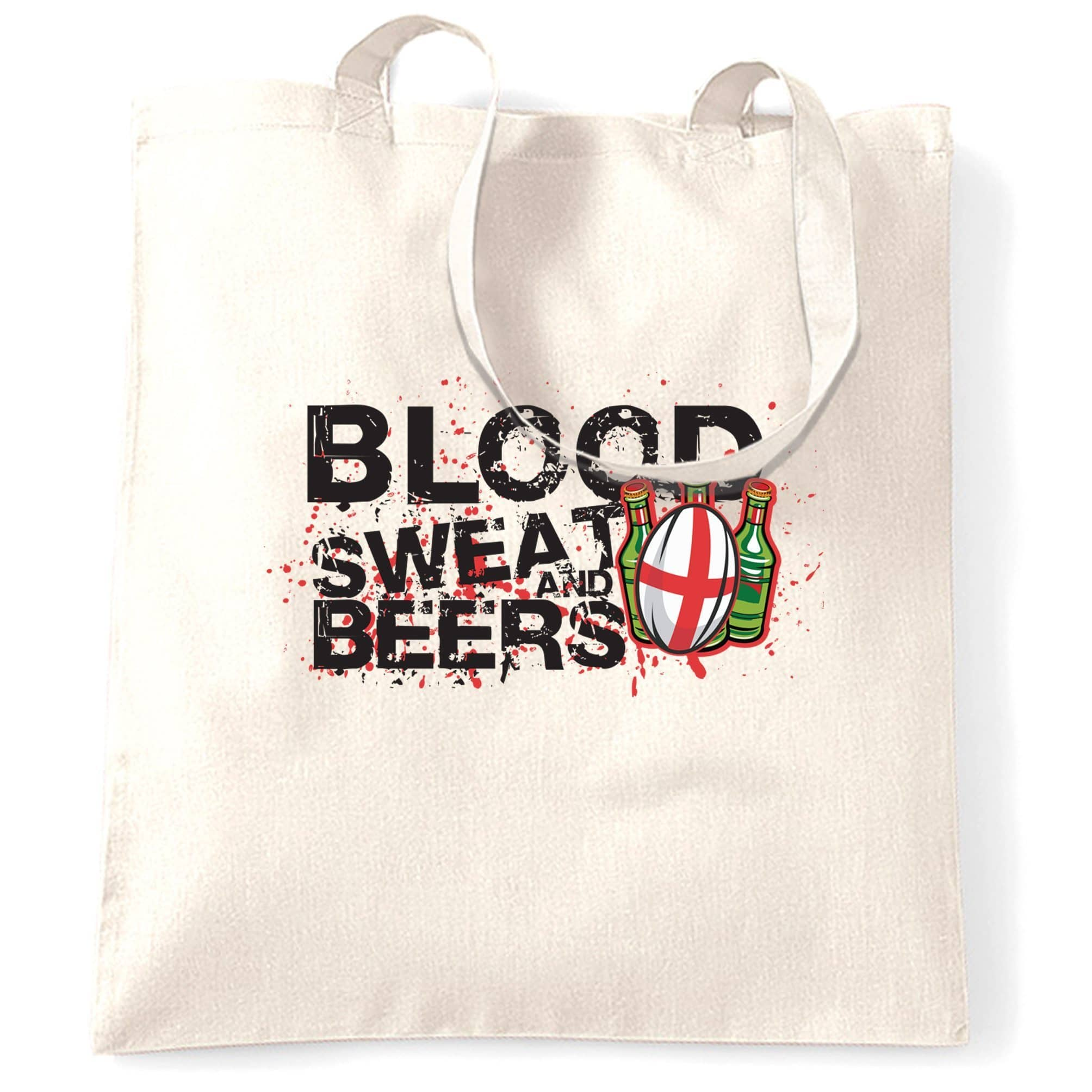 England Rugby Supporter Tote Bag Blood, Sweat And Beers