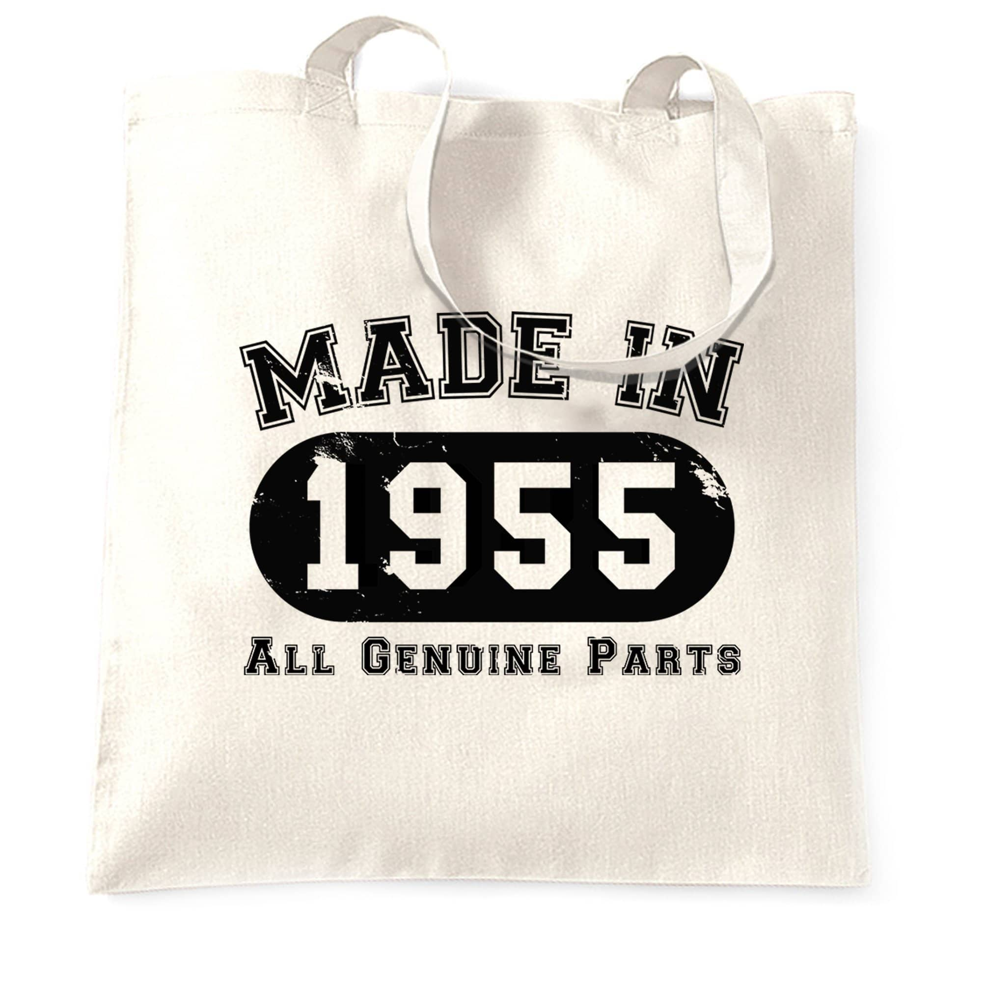 Birthday Tote Bag Made in 1955 All Genuine Parts