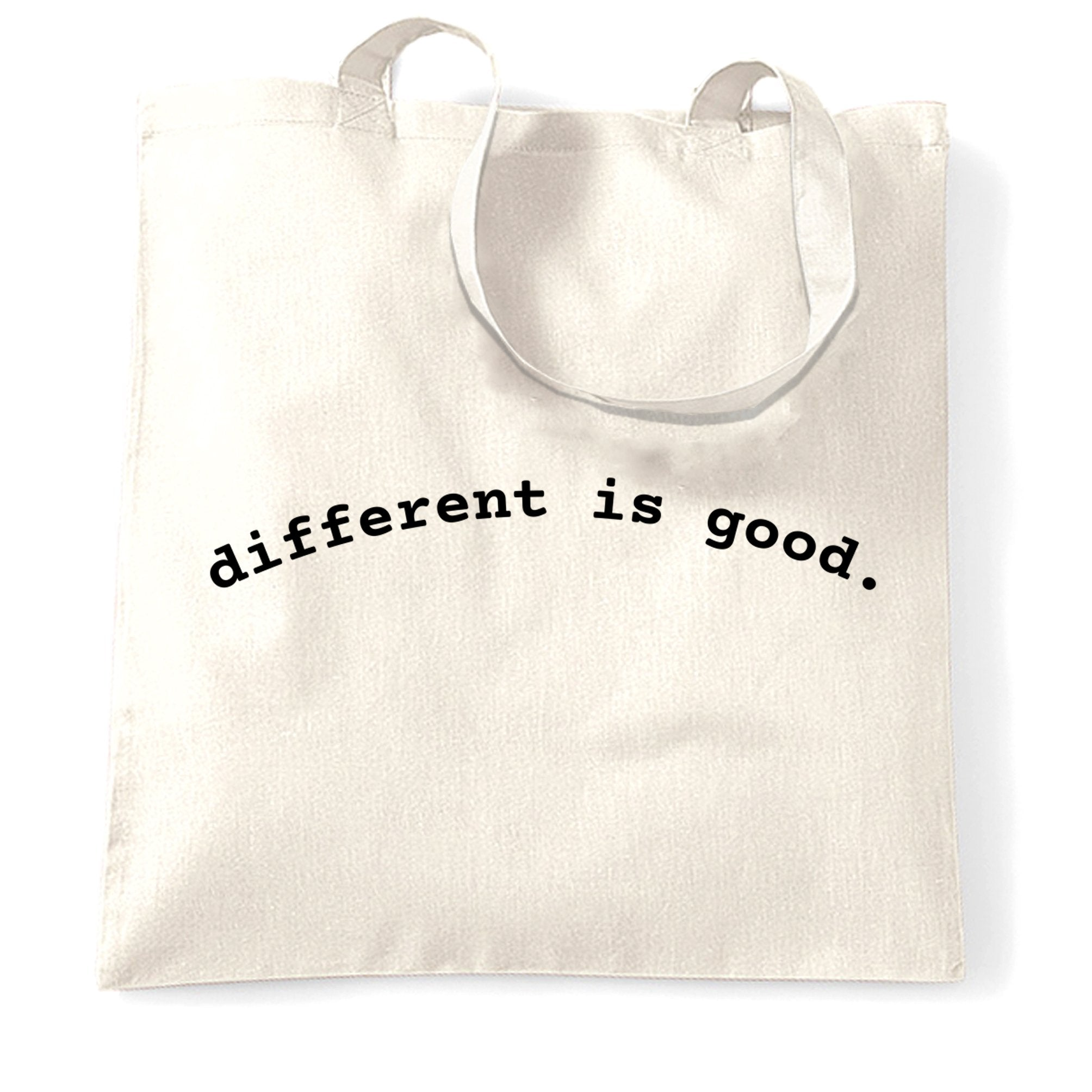 Novelty Slogan Tote Bag Different Is Good