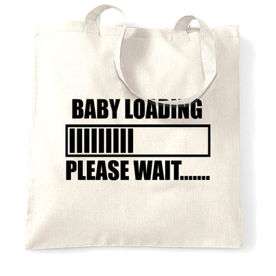 Novelty Tote Bag Baby Loading Bar Please Wait