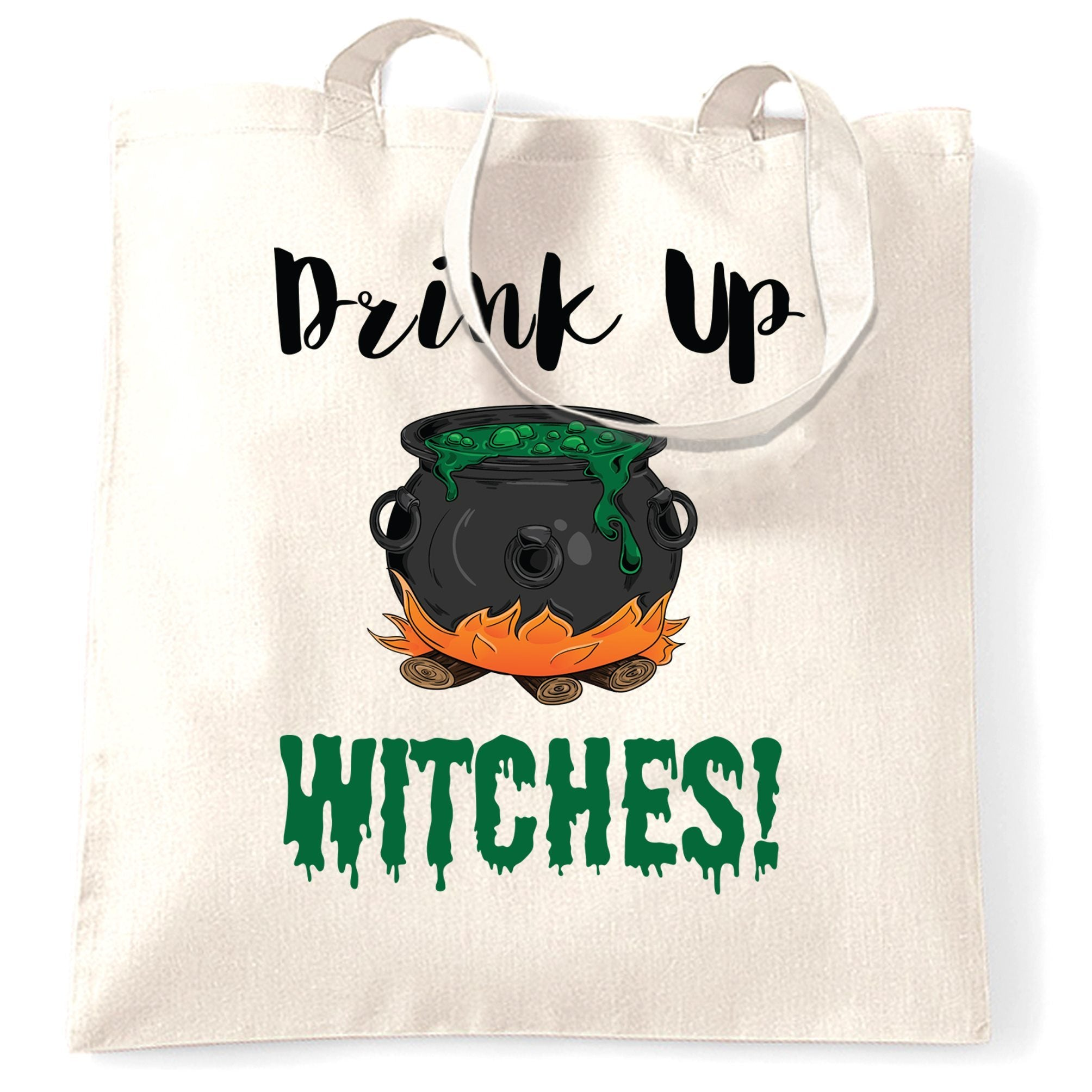 Halloween Tote Bag Drink Up, Witches Cauldron