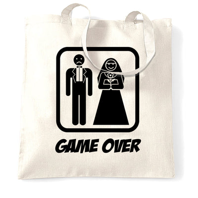 Game Over Novelty Tote Bag Wedding Stag Do Hen Night