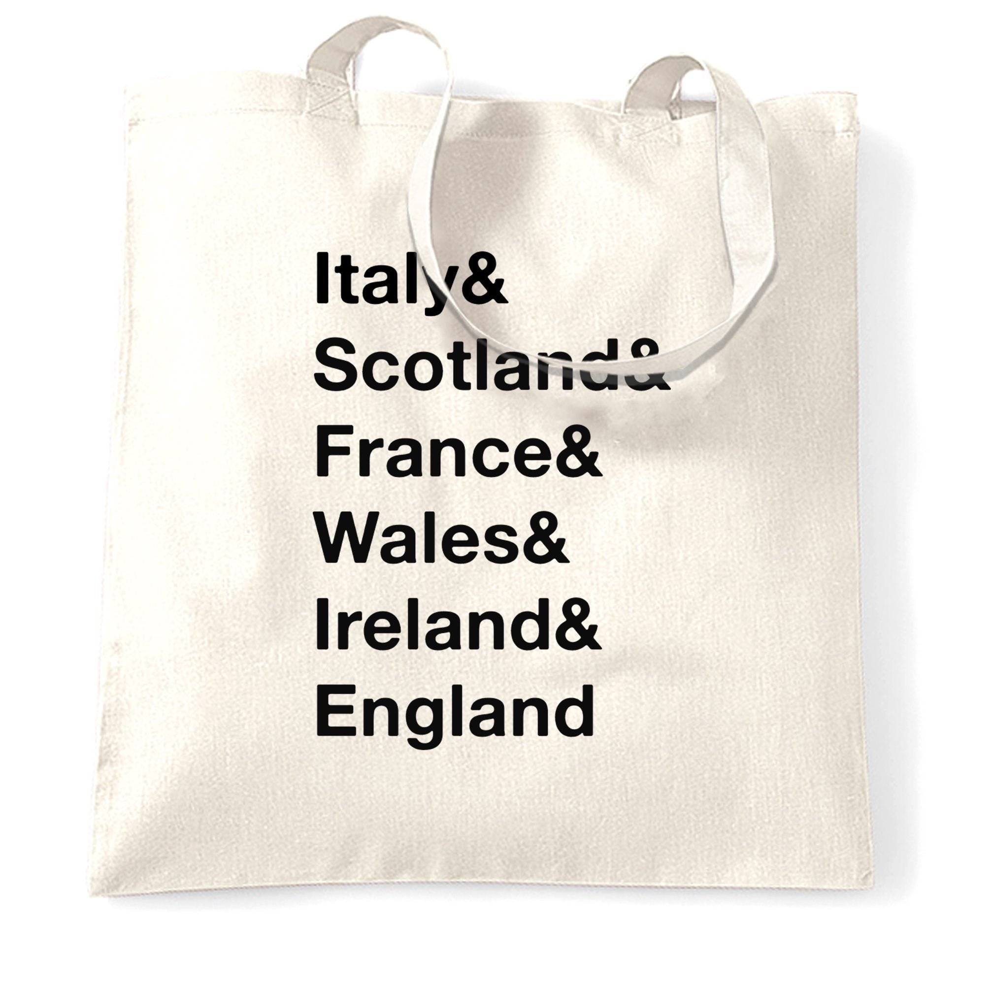 The Six Nations Tote Bag Italy, Scotland, France