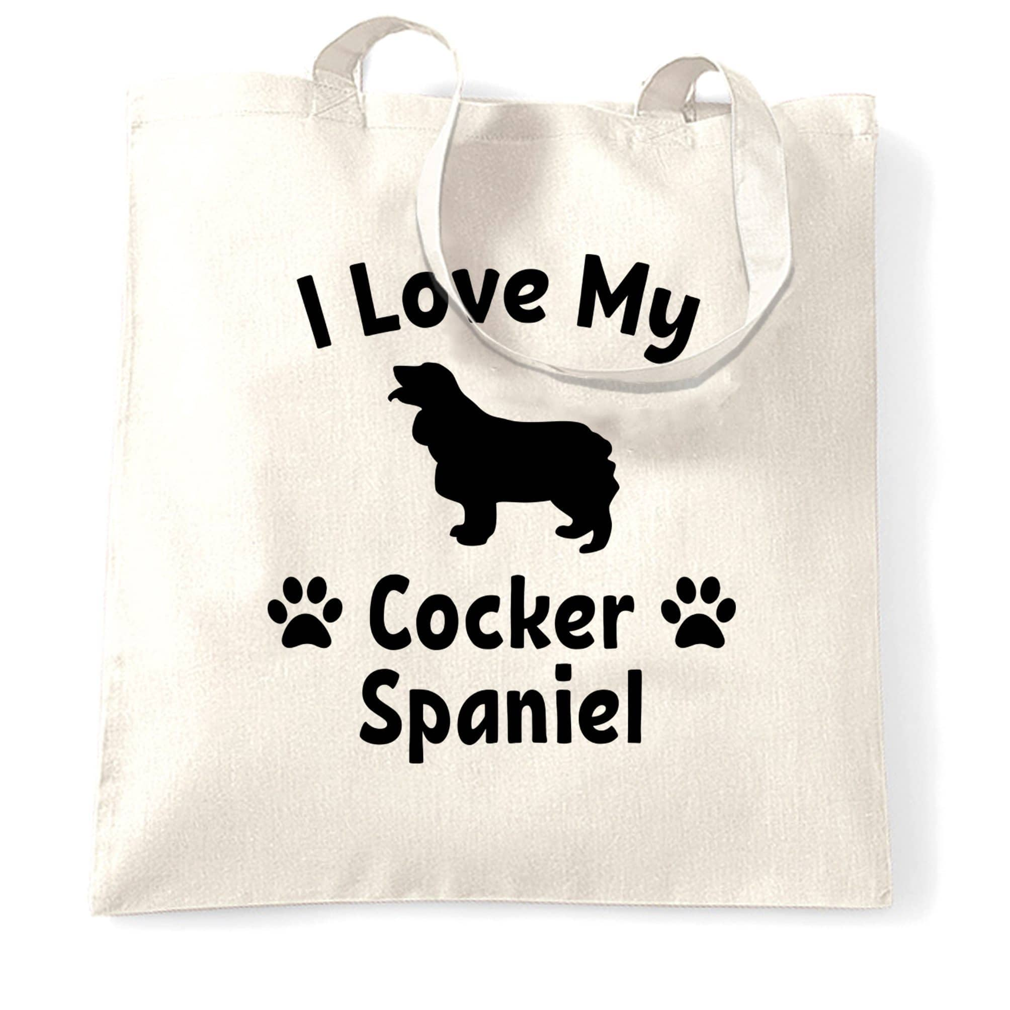 Dog Owner Tote Bag I Love My Cocker Spaniel