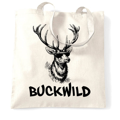Novelty Christmas Tote Bag Buckwild Cool Reindeer