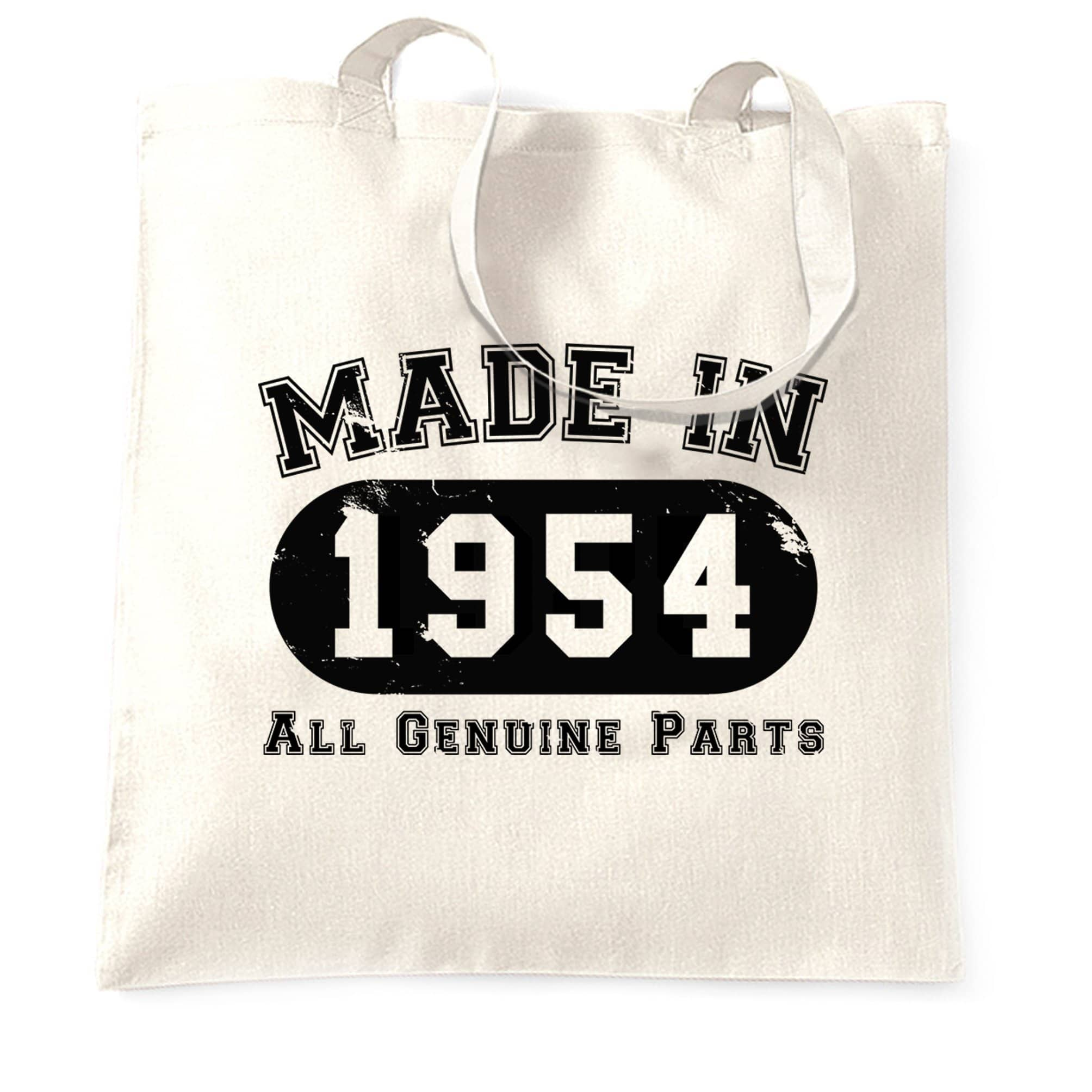 Birthday Tote Bag Made in 1954 All Genuine Parts