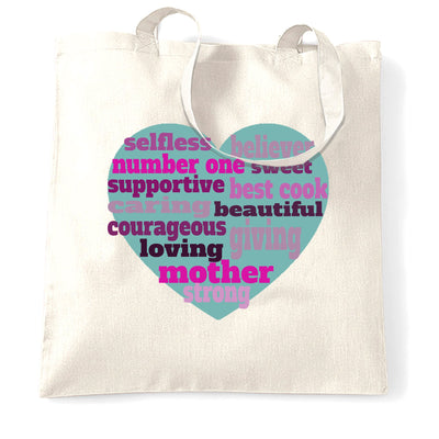 Mother's Day Tote Bag Heart Of Mum Mom