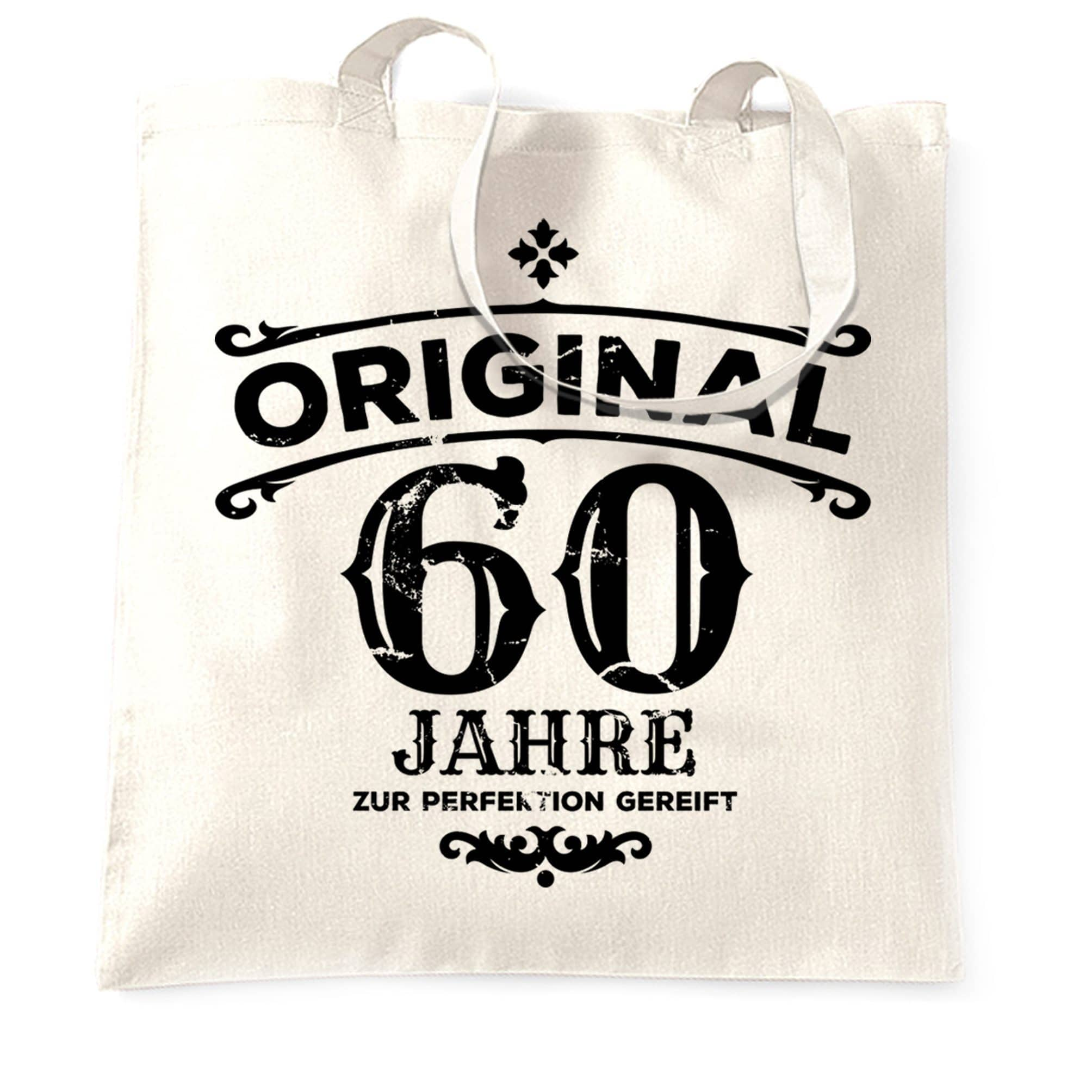 60th Birthday Tote Bag Original Aged 60 Sixty Years