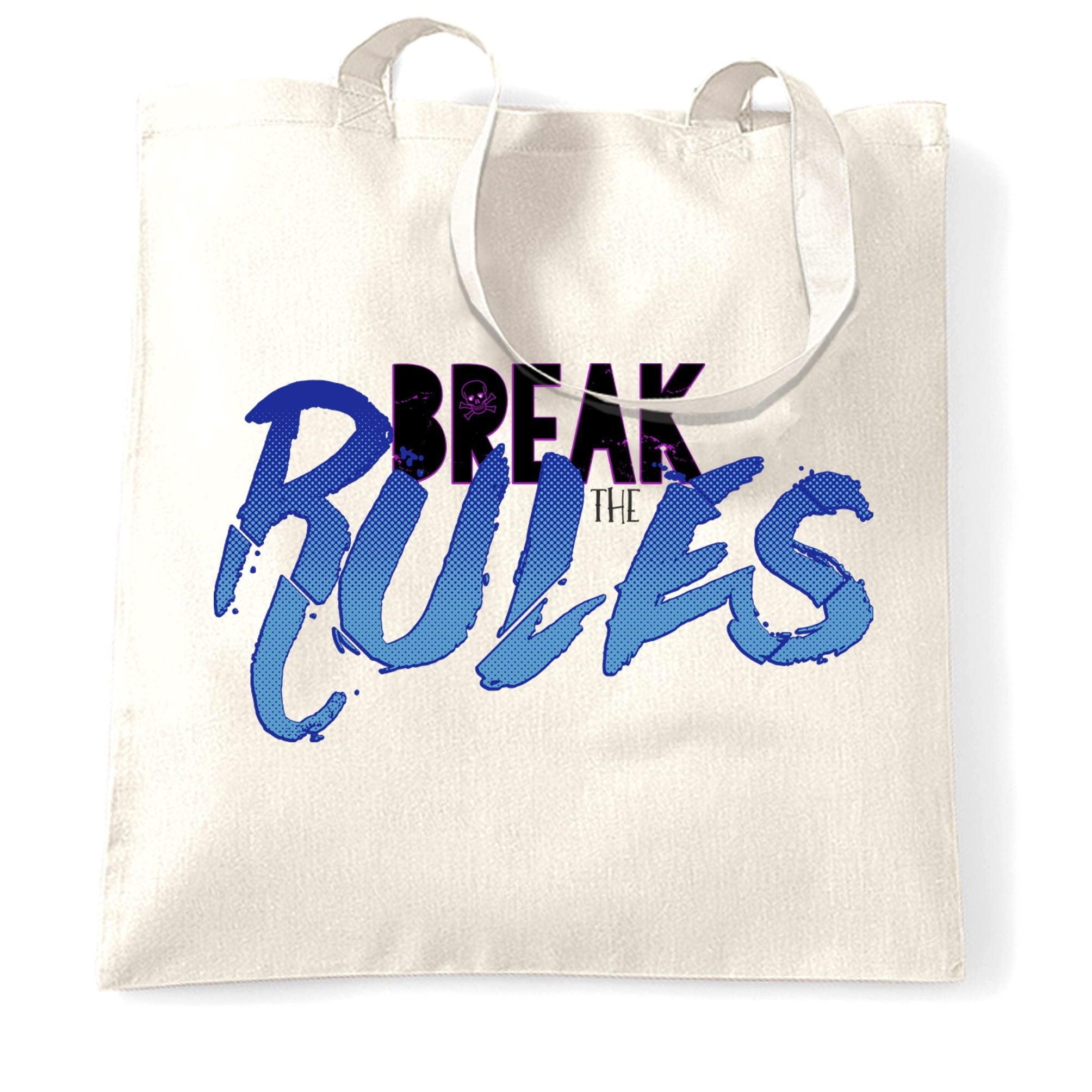 Rebel Tote Bag Break The Rules Skull And Crossbones