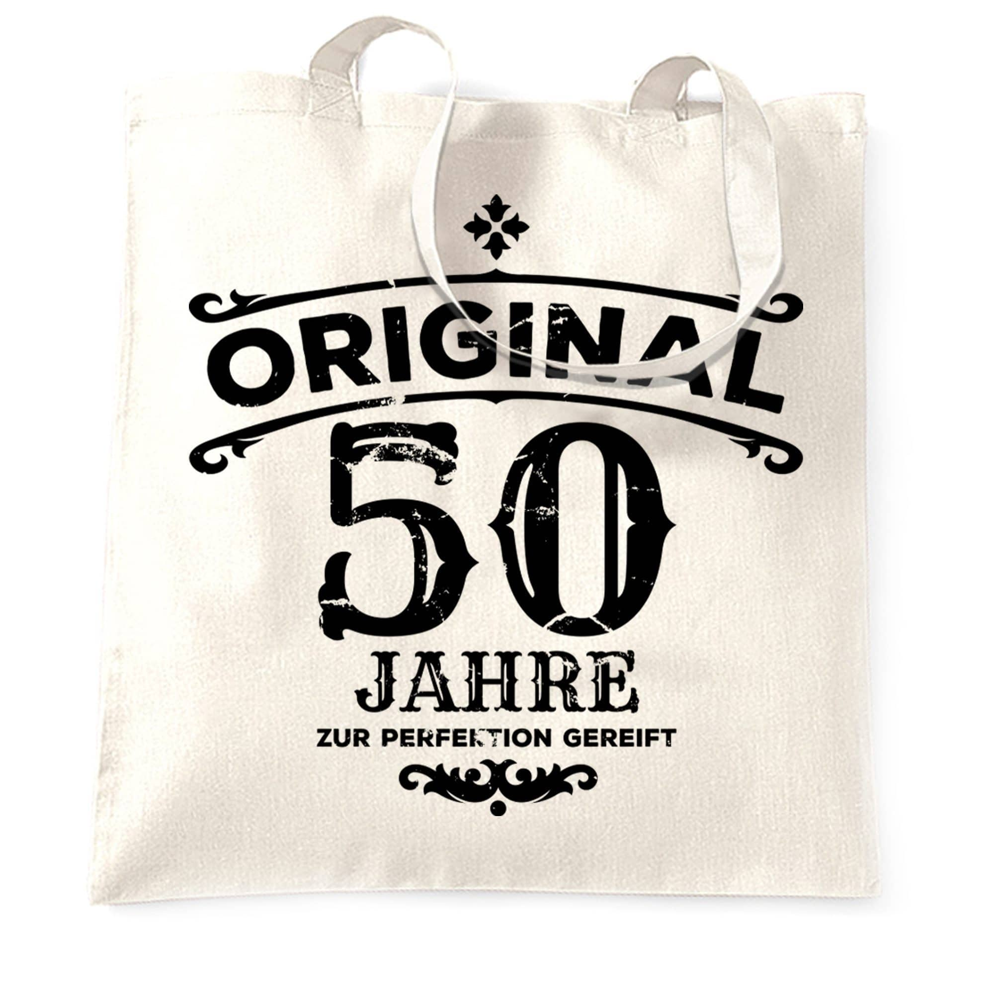 50th Birthday Tote Bag Original Aged 50 Fifty Years