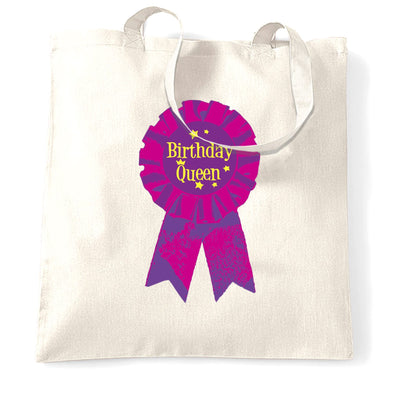 Novelty Party Tote Bag Birthday Girl Pocket Print Badge