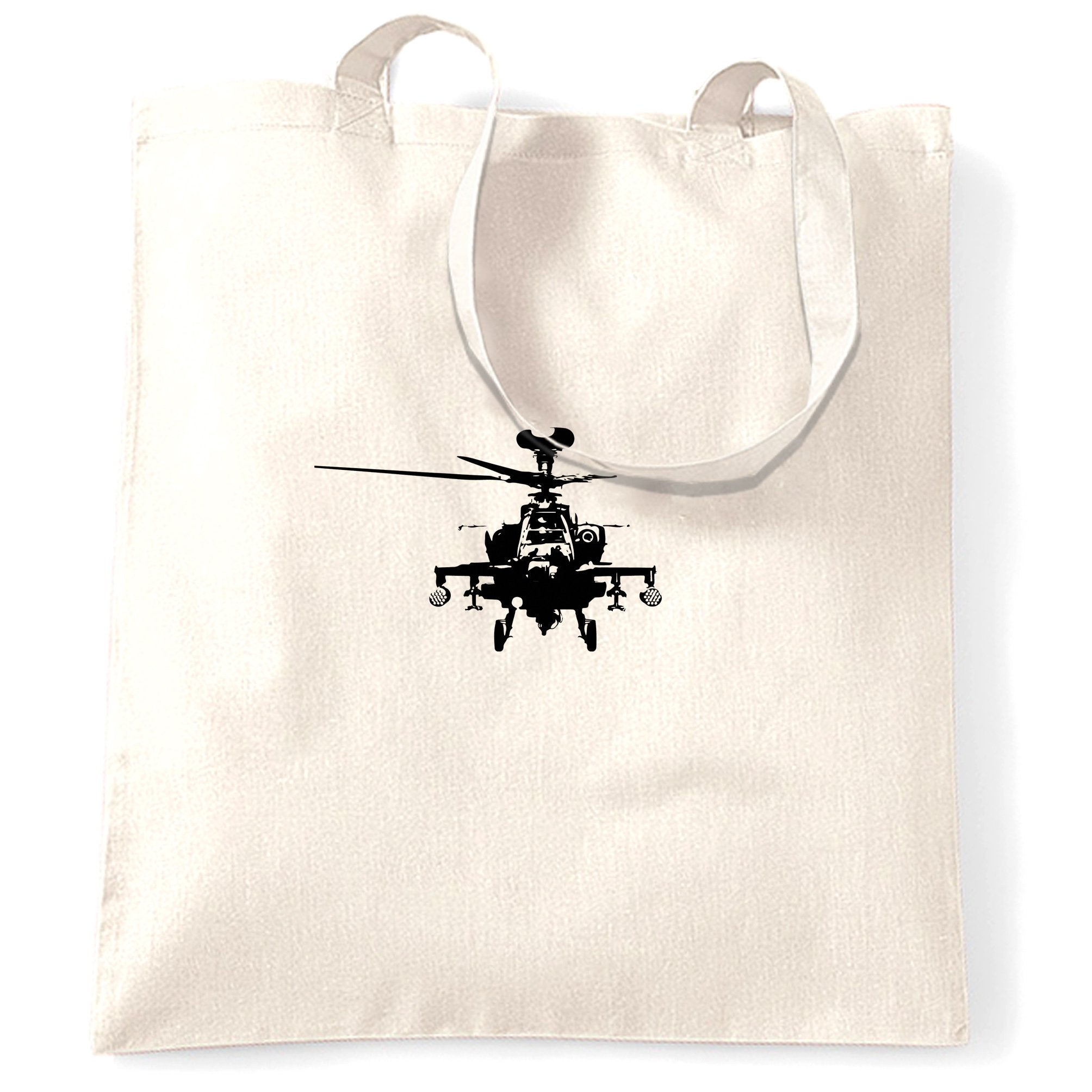 Military Tote Bag Apache Attack Helicopter AH64