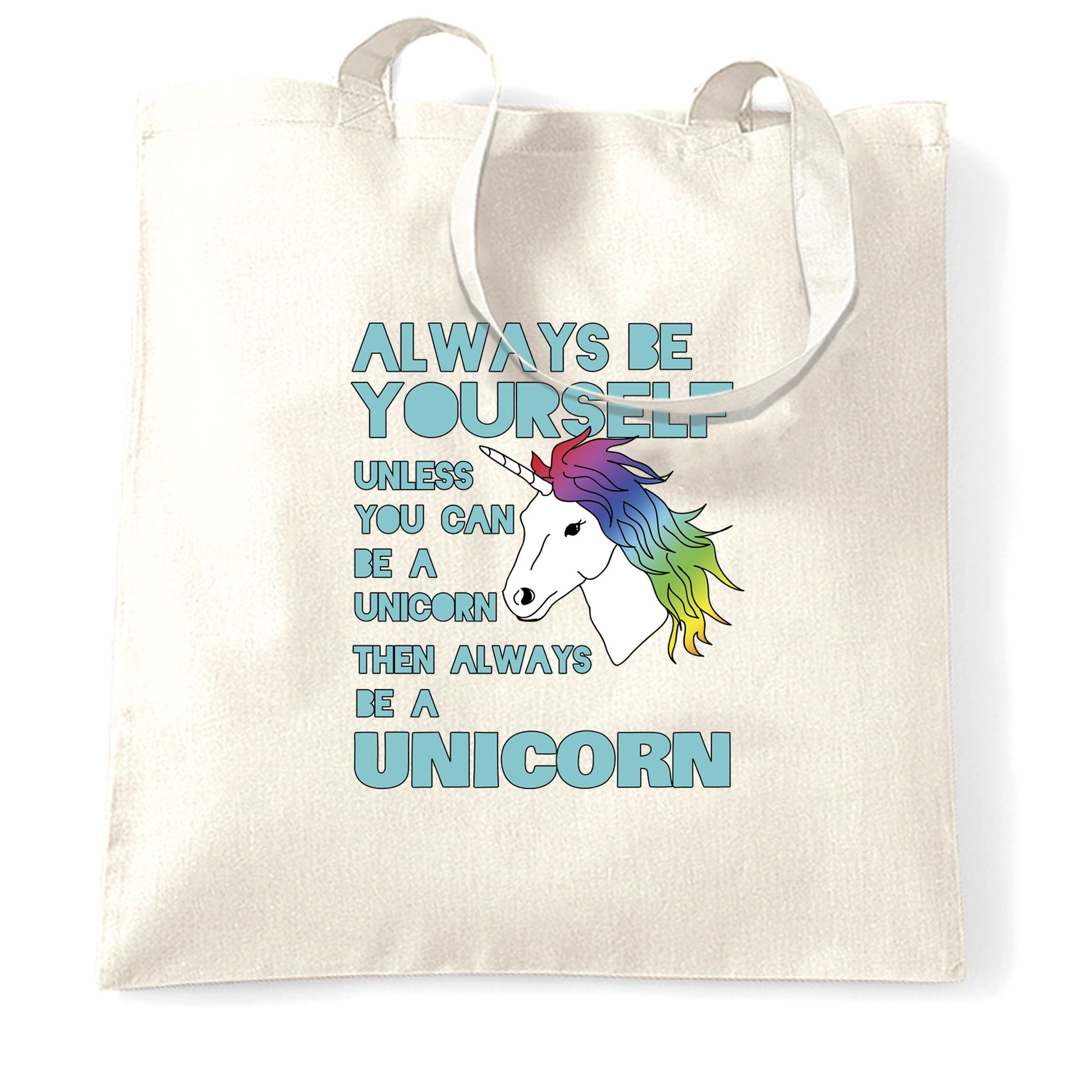 Novelty Unicorn Tote Bag Always Be Yourself