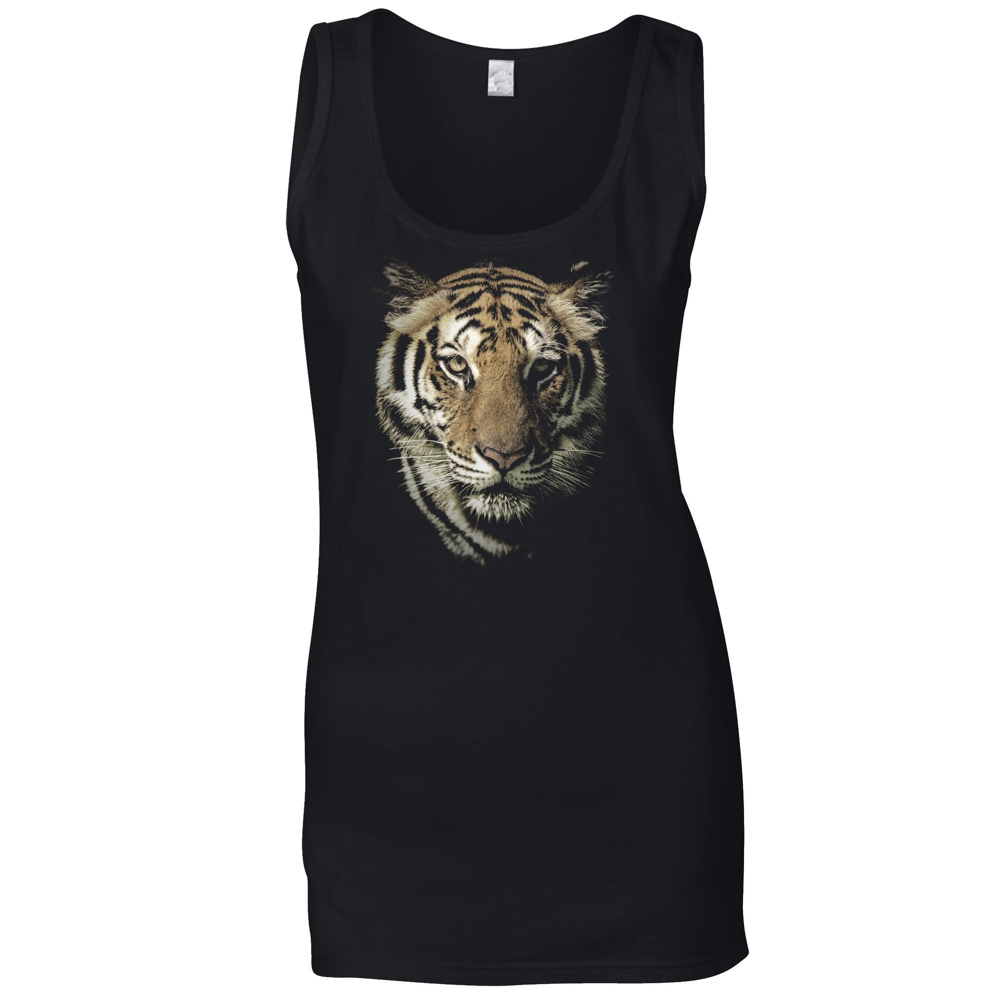 Tiger Face Women's Vest Majestic Big Cat Head