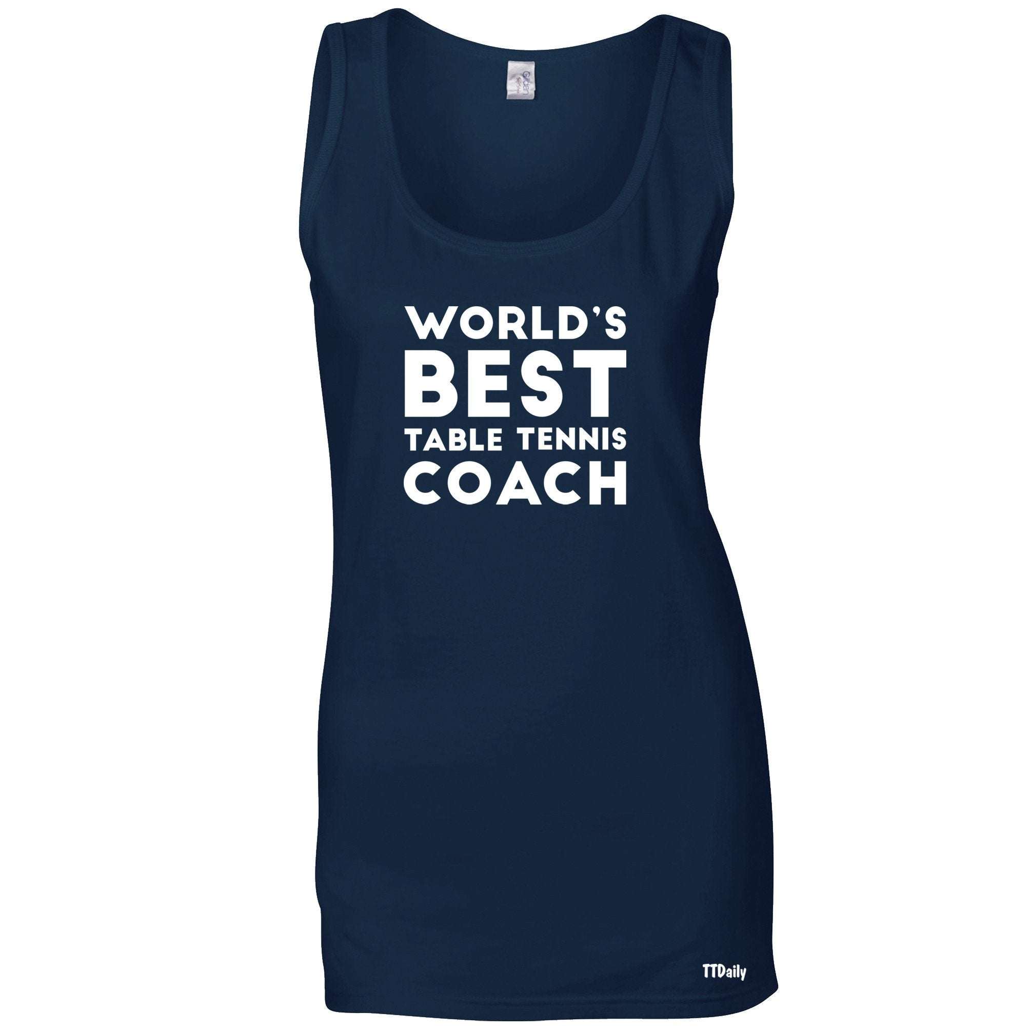 Table Tennis Ladies Vest Worlds Best Coach Top