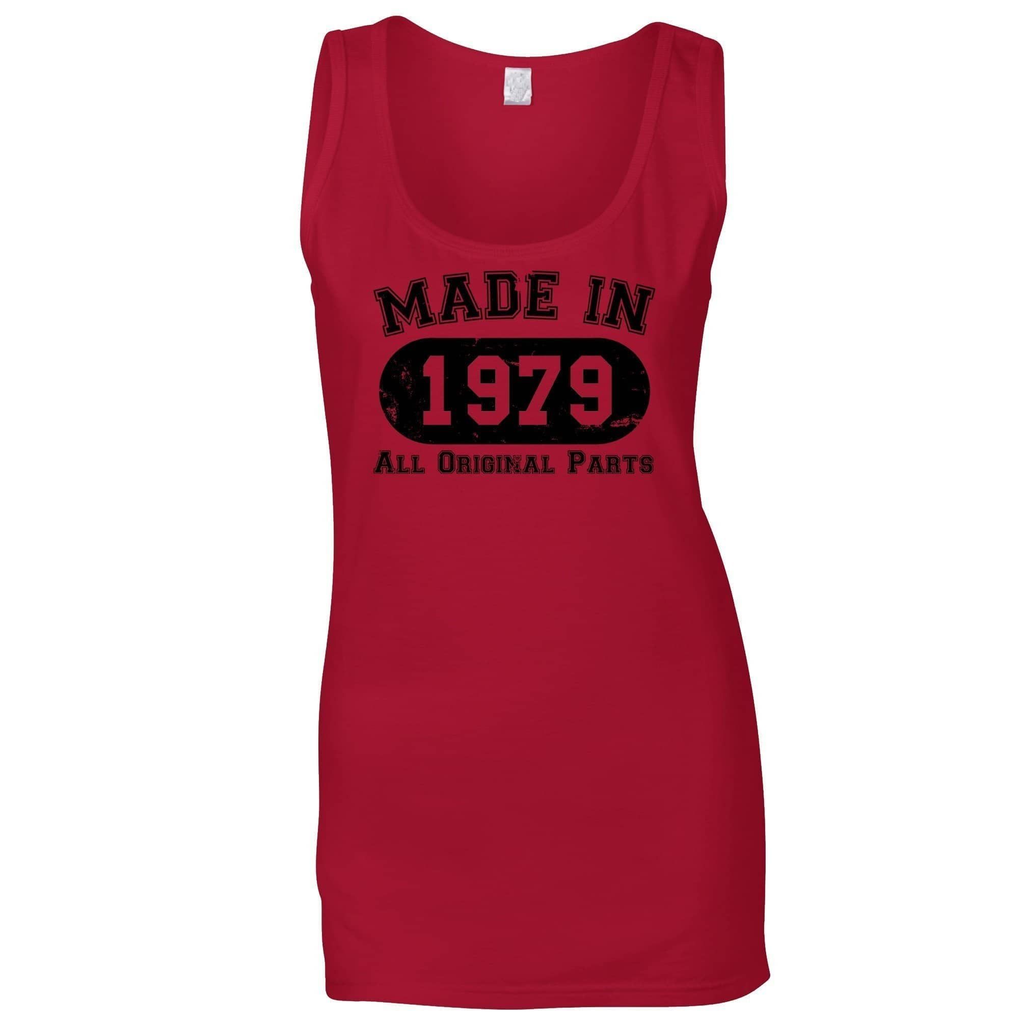 Made in 1979 All Original Parts Womens Vest [Distressed]