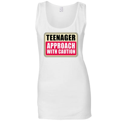 Approach With Caution Teenager Ladies Vest
