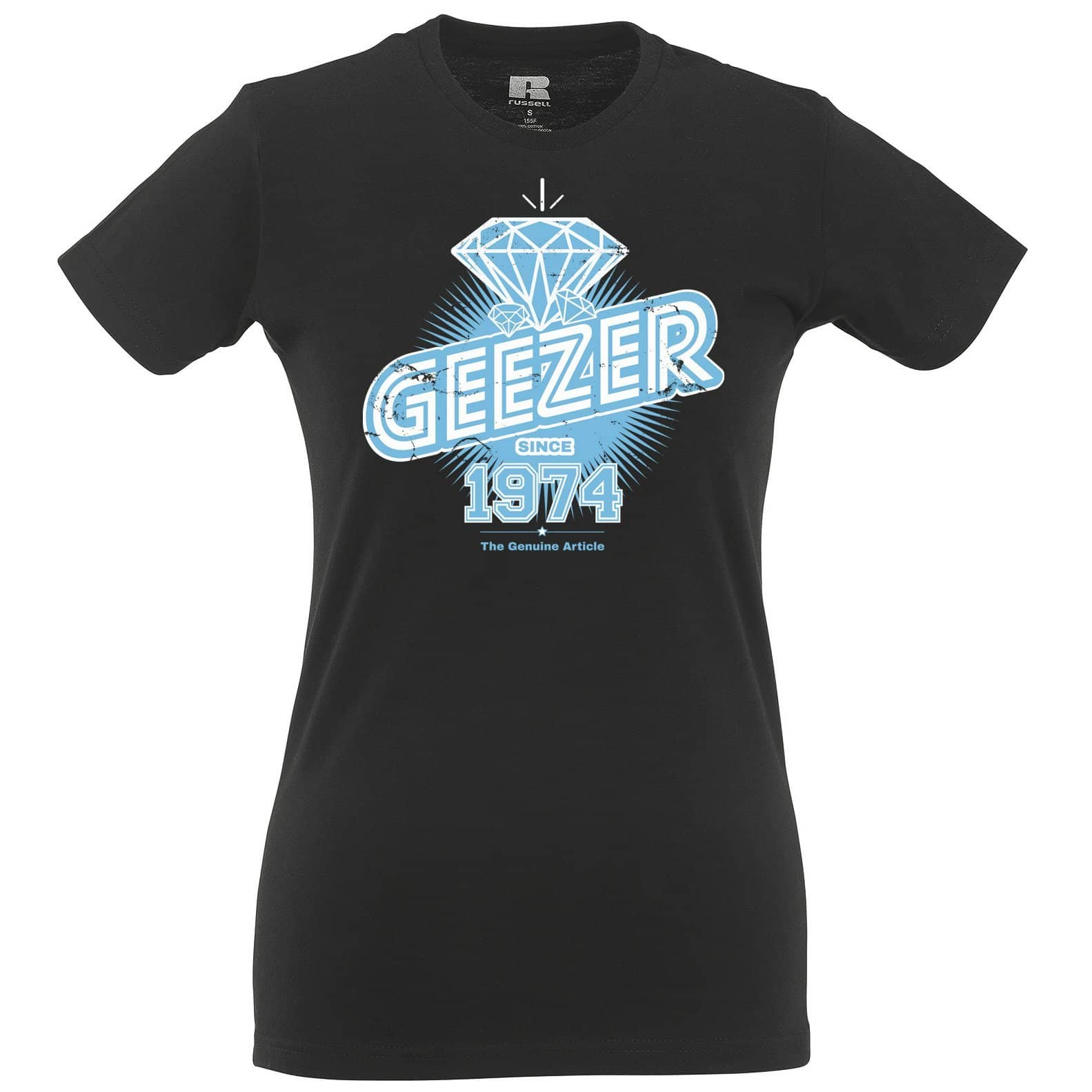 44th Birthday Womens Tee Diamond Geezer Since 1974