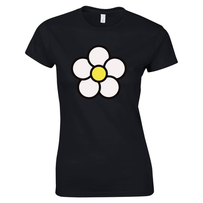 Cute Summer Womens TShirt Floral Single Daisy