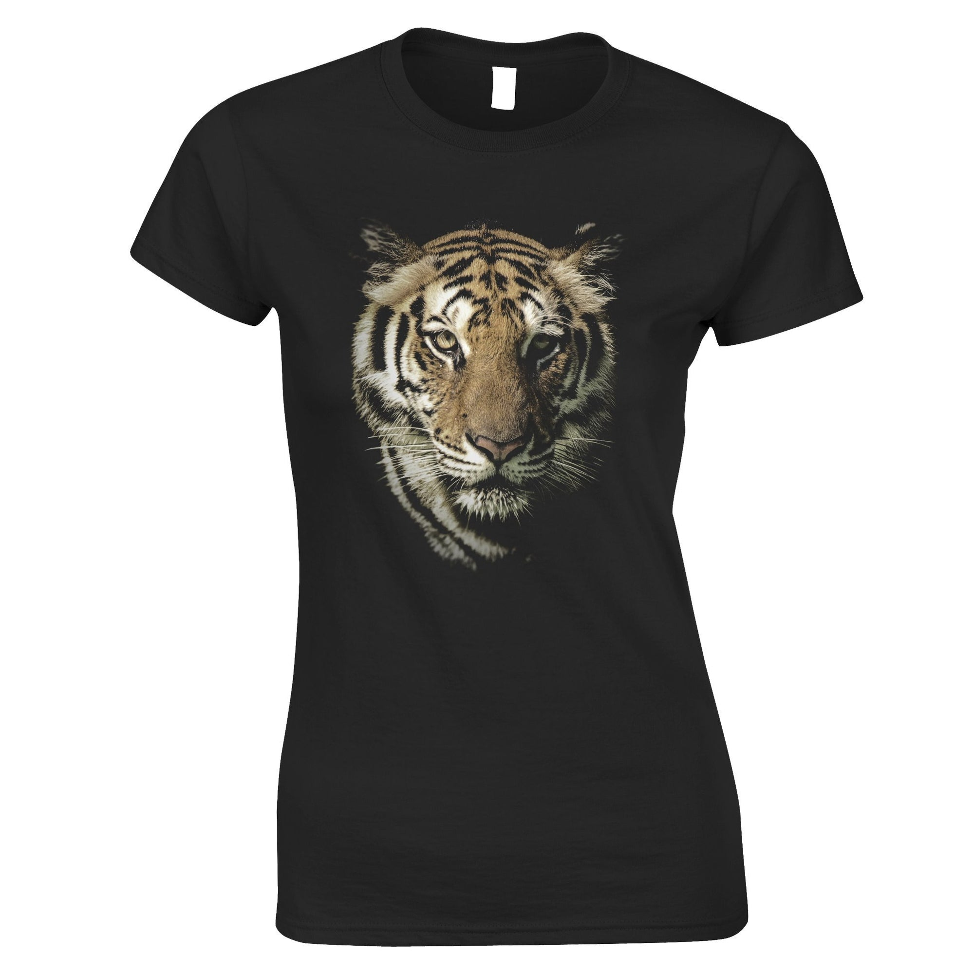 Tiger Face Womens TShirt Majestic Big Cat Head
