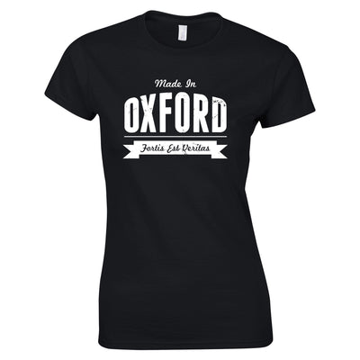 Hometown Pride Womens T Shirt Made in Oxford Banner