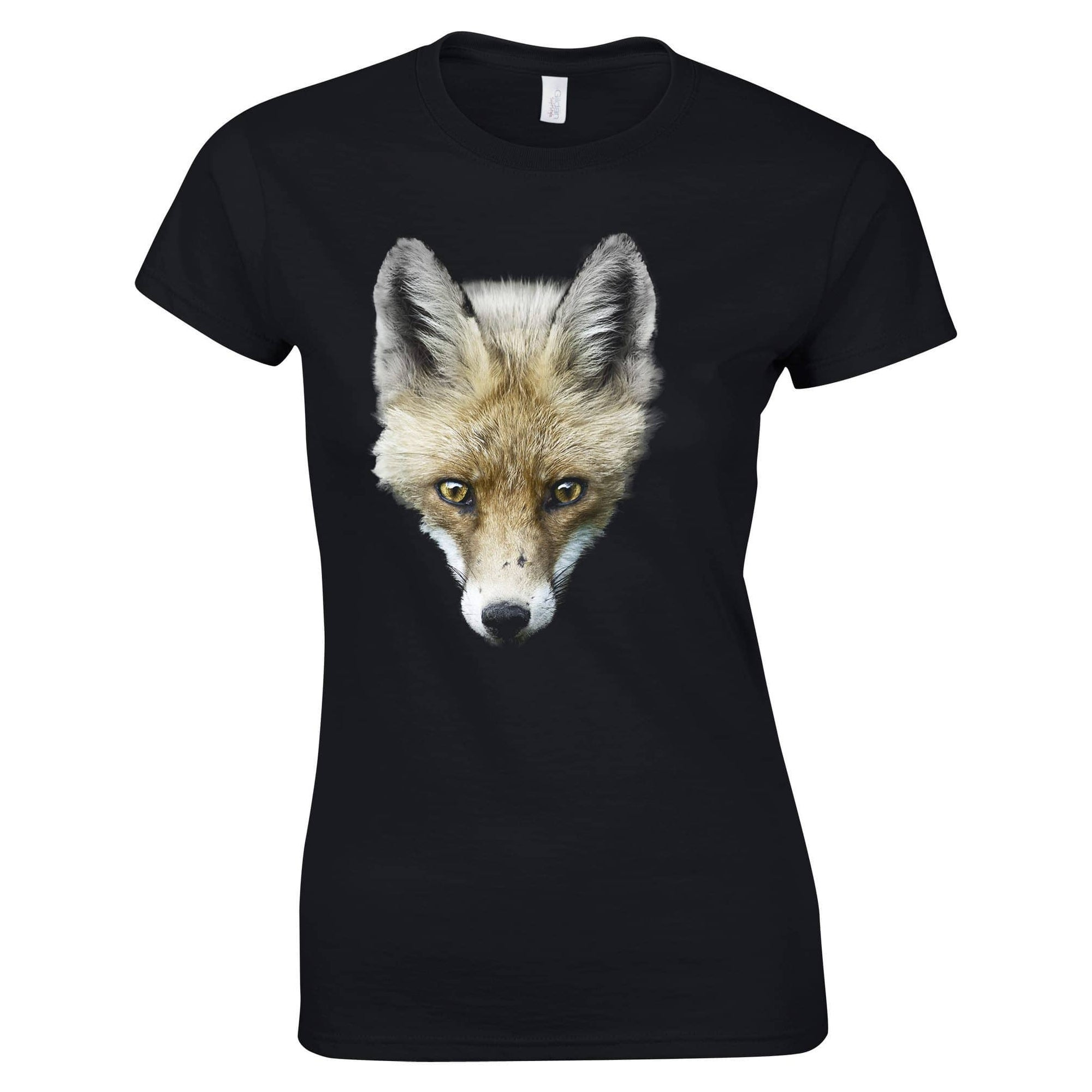 Fox Womens T Shirt Photographic Animal Head Design
