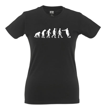 Sports Womens T Shirt Evolution Of A Rugby Ball Kick