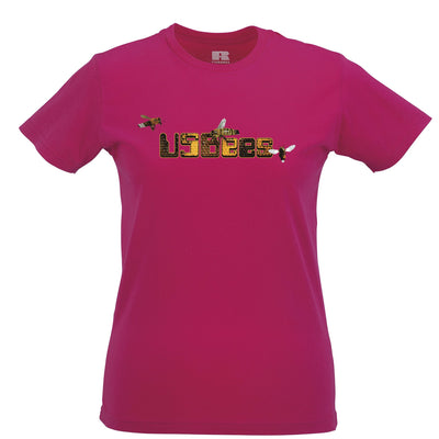 Novelty Pun Womens T Shirt USB Bees Computer Joke