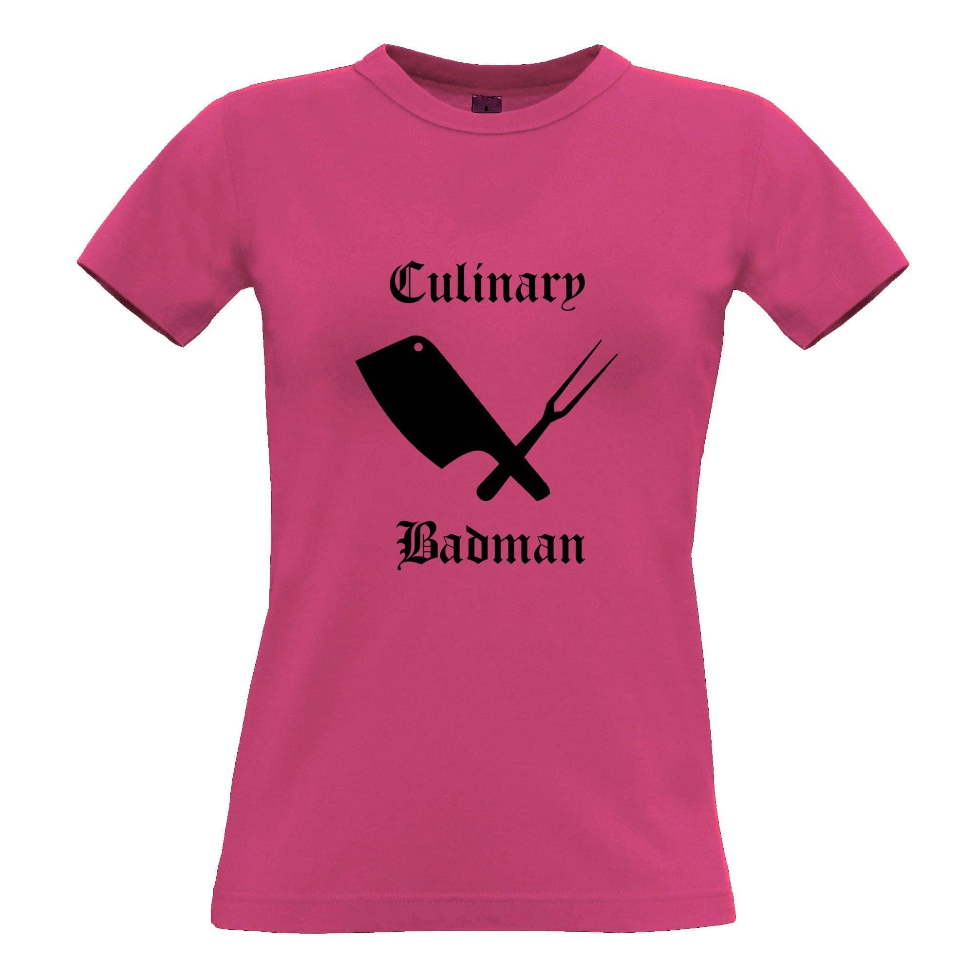 Cooking Womens T Shirt Culinary Badman Cuisine Logo
