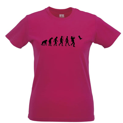 Fisherman Womens T Shirt The Evolution Of Fishing Boot
