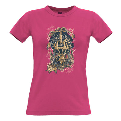Gothic Sailor Art Womens T Shirt Skeleton Swearing Graphic