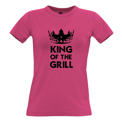 Novelty Cooking Womens T Shirt King Of The Grill Slogan