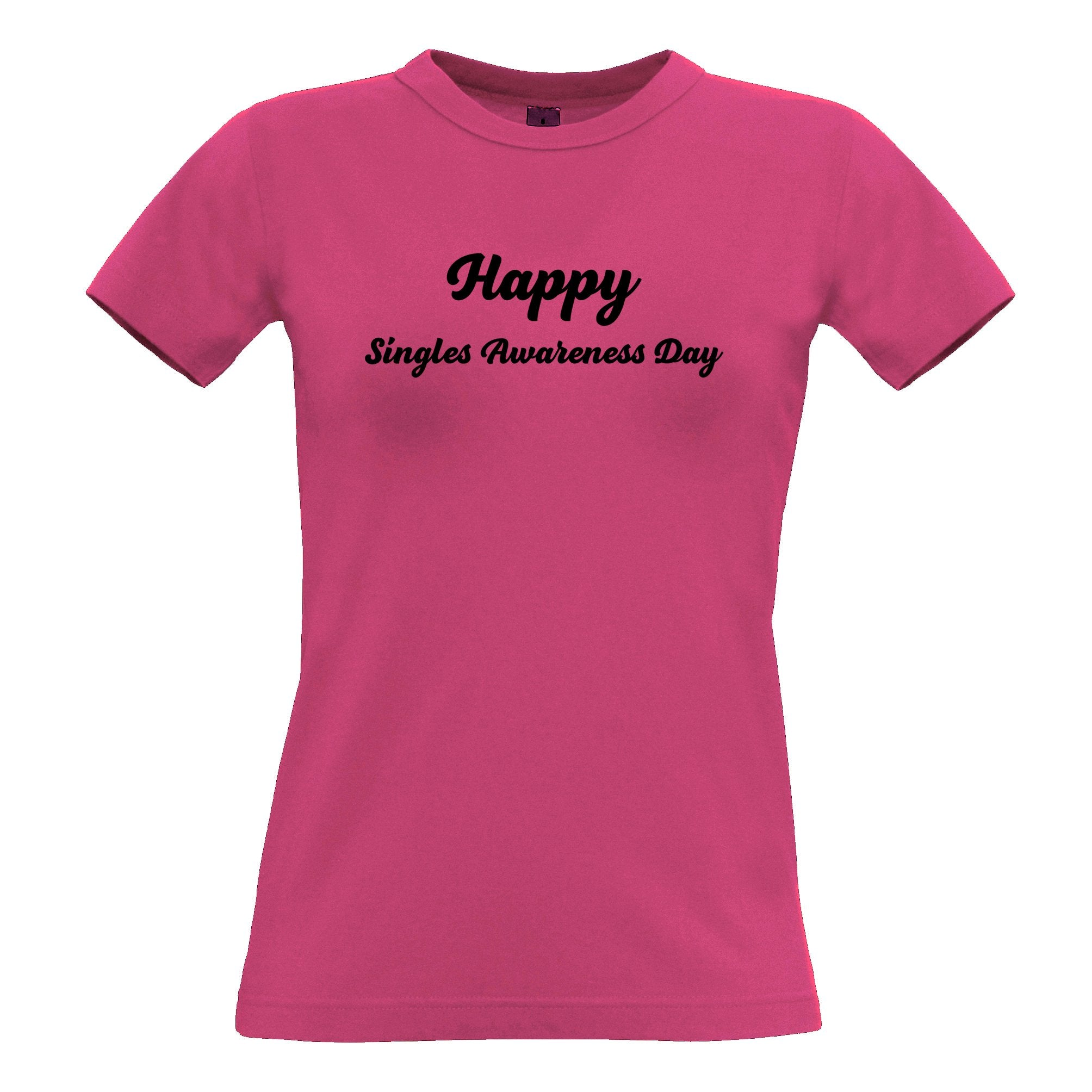 Joke Valentine's Day Womens TShirt Singles Awareness Day