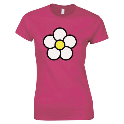 Cute Summer Womens T Shirt Floral Single Daisy