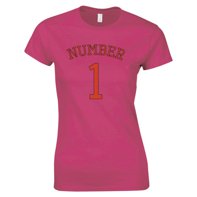 Sports Womens Tee I Am Number 1 Race Winner