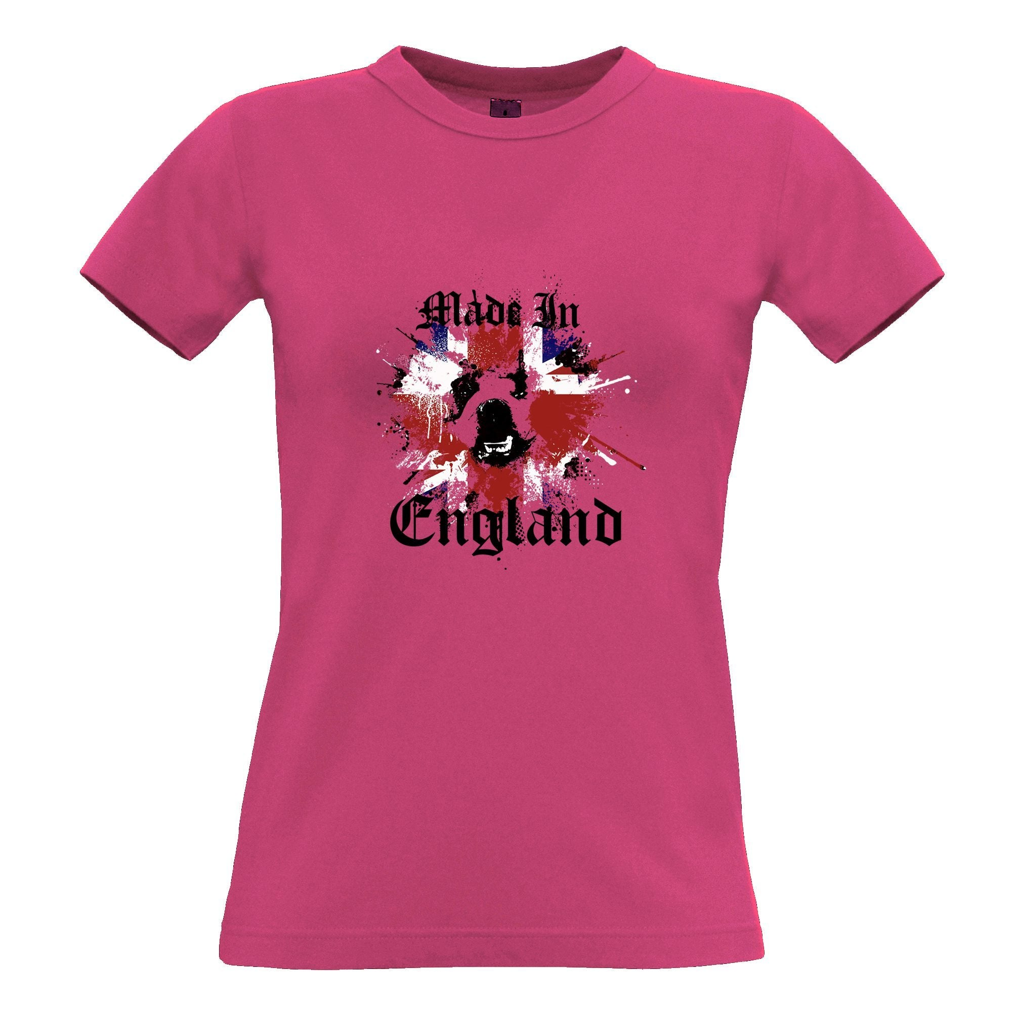 Made In England Womens TShirt British Bulldog