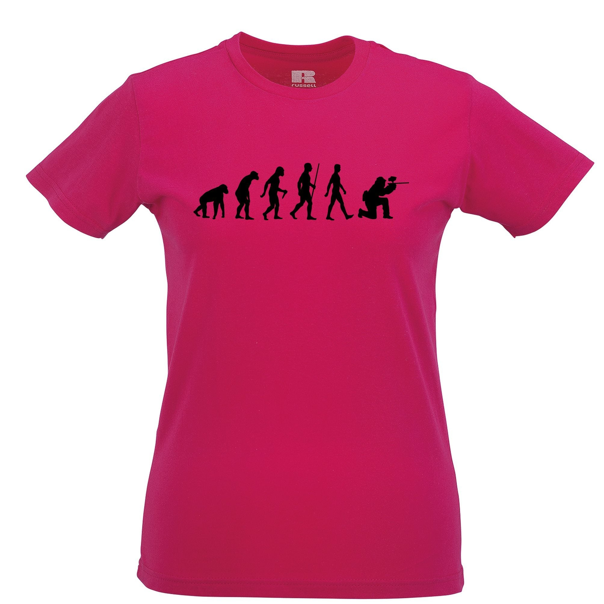 Sports Womens T Shirt The Evolution Of A Paintballer