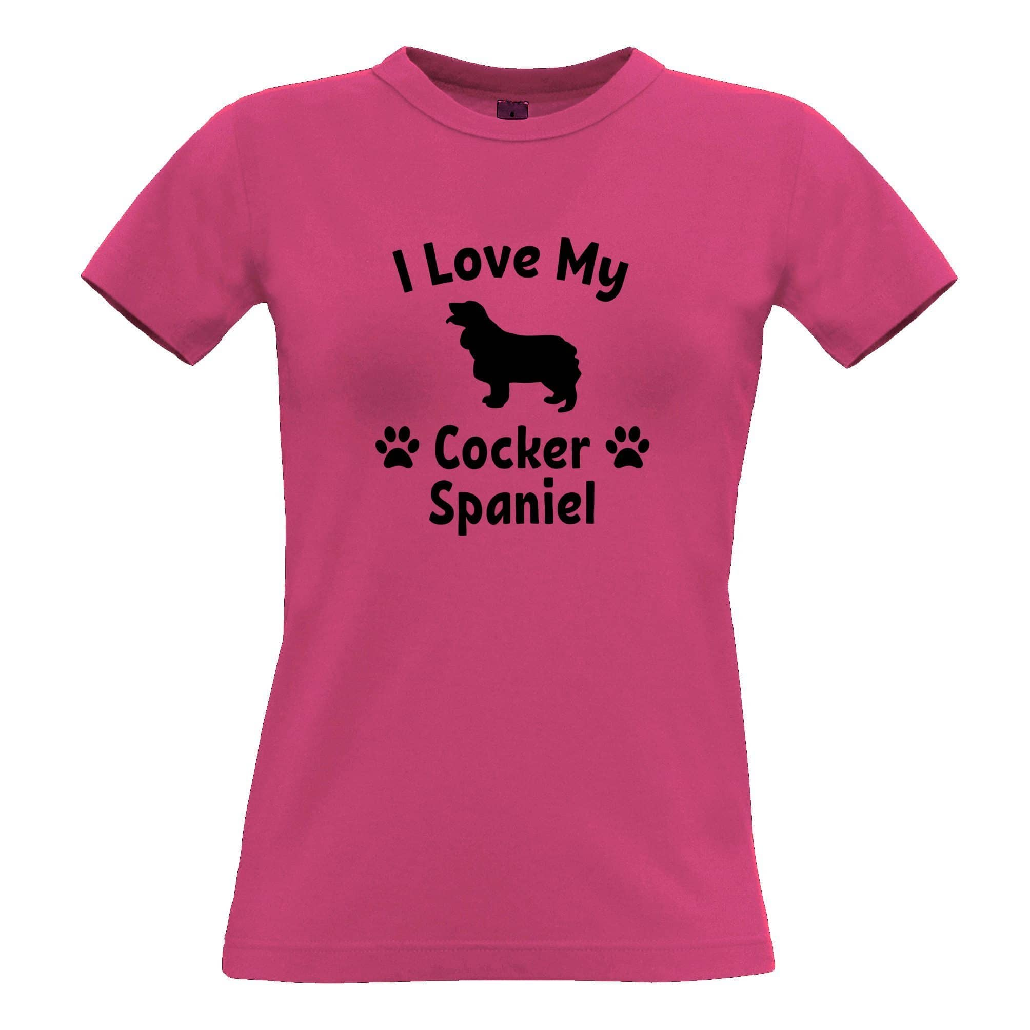 Dog Owner Womens TShirt I Love My Cocker Spaniel