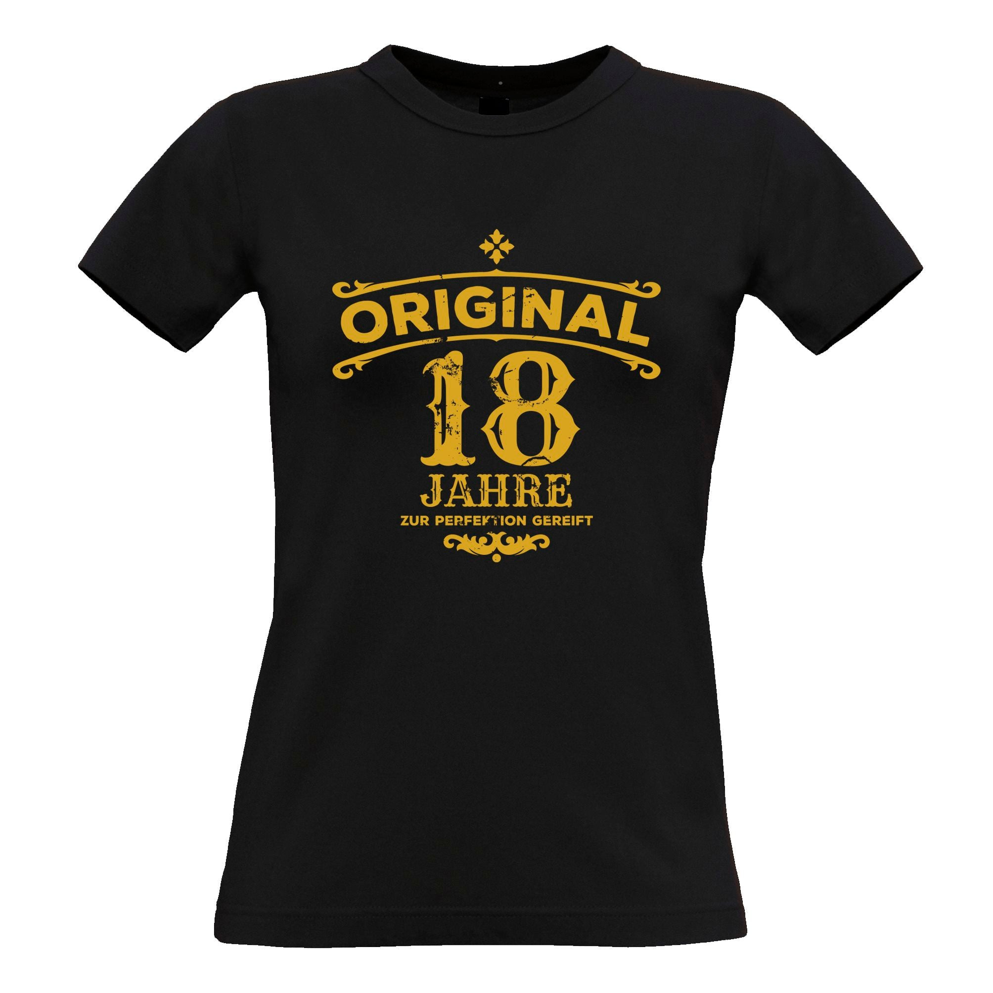 18th Birthday Womens TShirt Original Aged 18 Eighteen Years Tee
