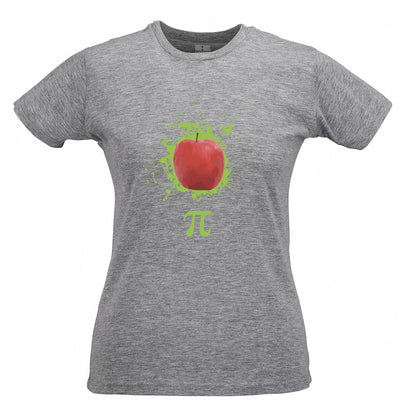 Novelty Womens T Shirt Apple Pie Pi Math Pun Joke