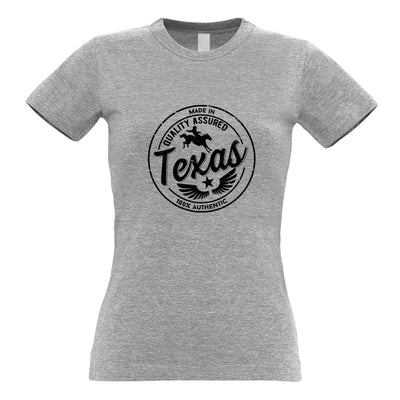 Hometown Pride Womens T Shirt Made in Texas Stamp