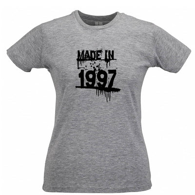 Birthday Womens TShirt Made In 1997 Graffiti