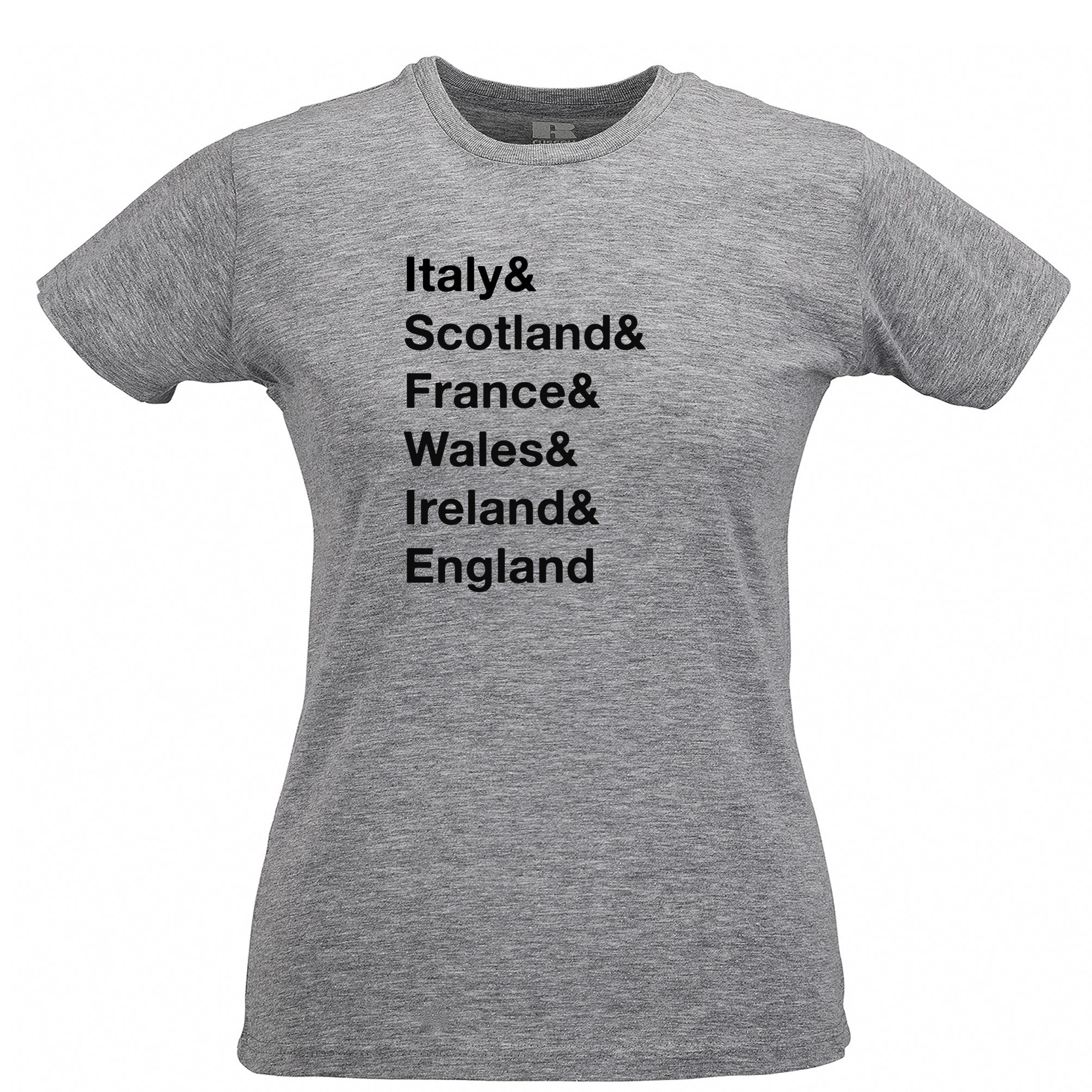 The Six Nations Womens TShirt Italy, Scotland, France