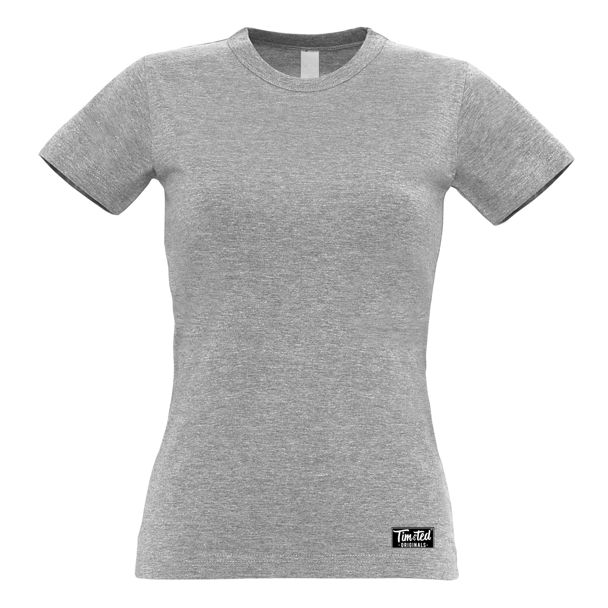 Tim and Ted Logo Premium Plain Womens T Shirt Apparel