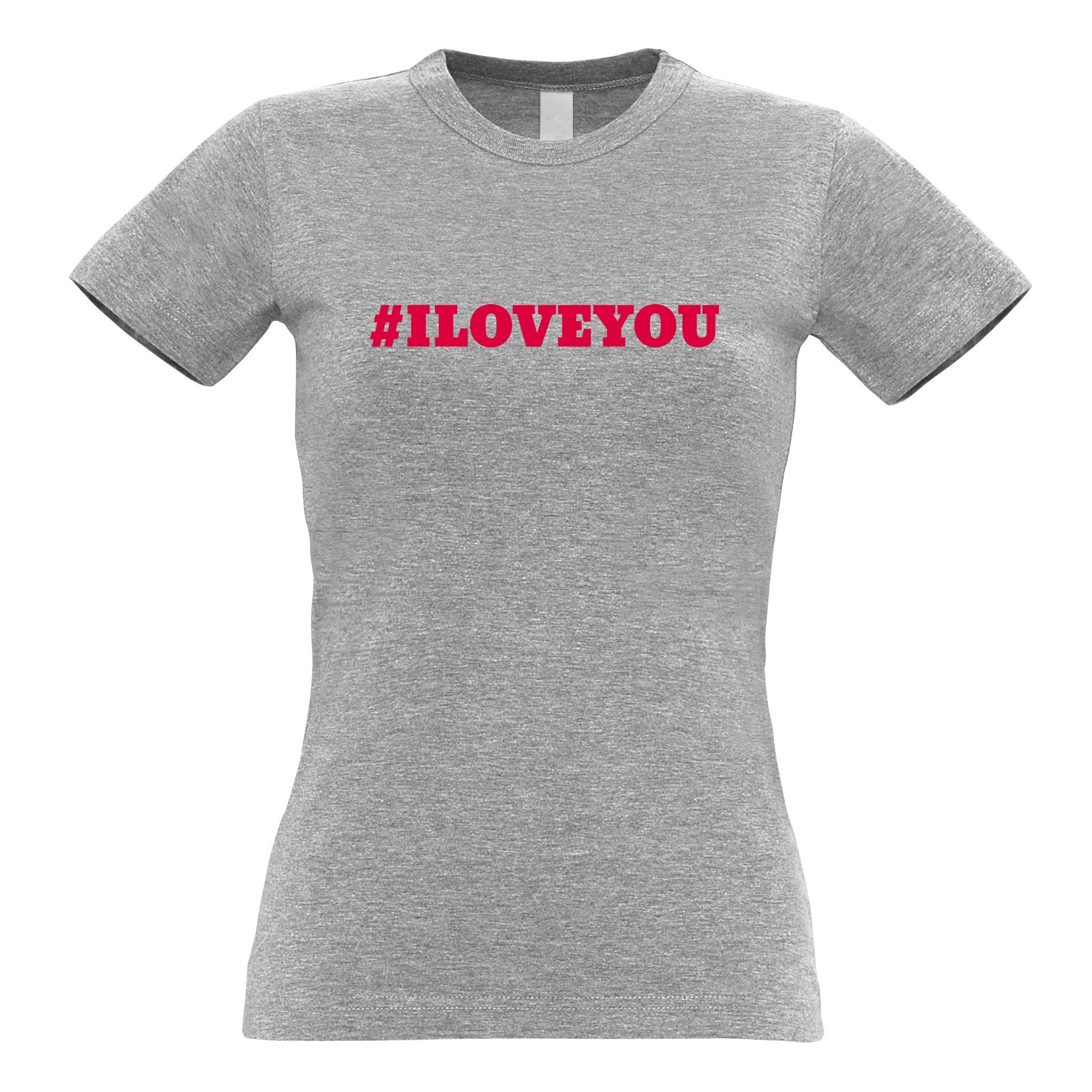Trendy Internet Womens TShirt Hashtag I LOVE YOU